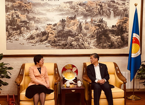 ACC Secretary-General Chen Dehai Met With President of Dalian University of Foreign Languages